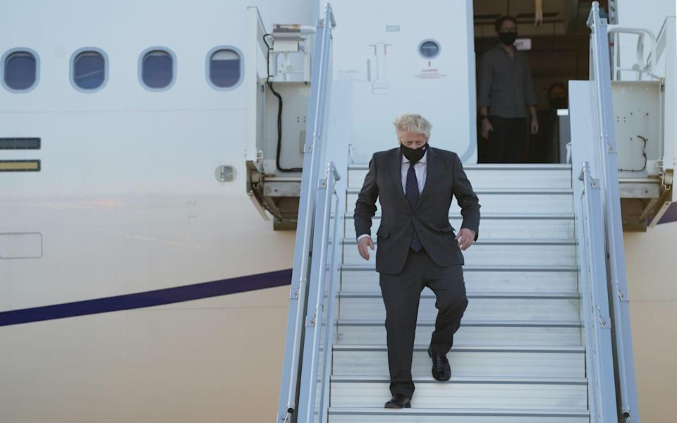 Boris Johnson is in New York for the UN General Assembly - PA