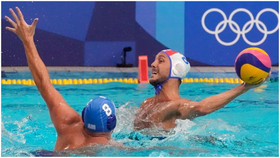 An Italy-Greece men's water polo match that wasn't fully available to Italian viewers caused an upset. (AP) - Credit: AP