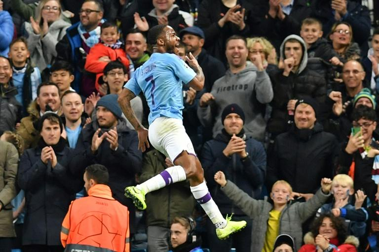 Raheem Sterling's quick-fire treble helped Manchester City to a 5-1 win over Atalanta (AFP Photo/Paul ELLIS)