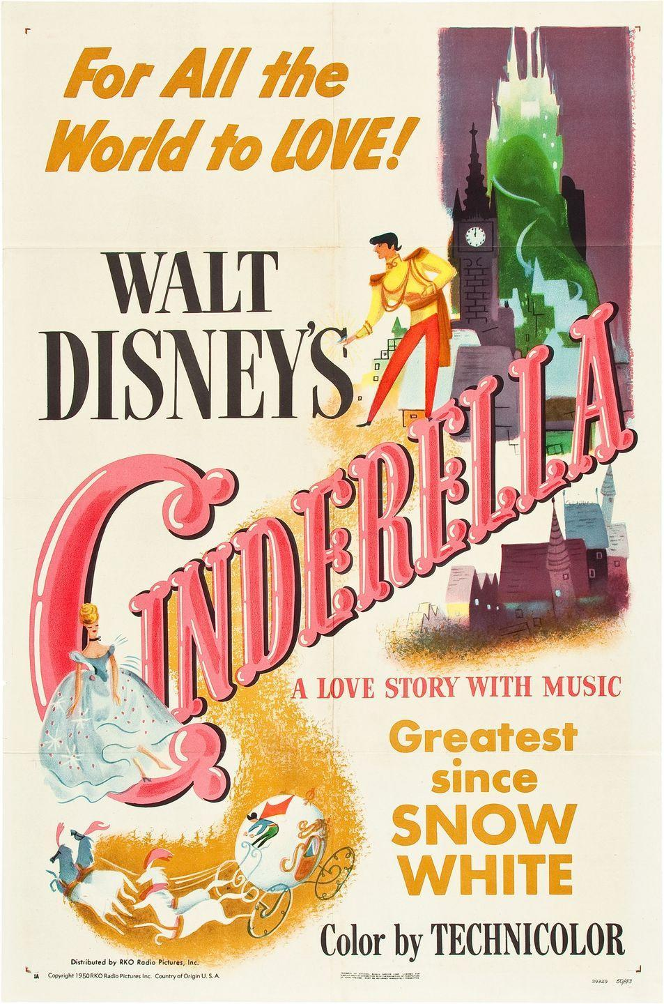 "<p>On February 15, Disney's <a href=""http://www.history.com/this-day-in-history/disneys-cinderella-opens"" rel=""nofollow noopener"" target=""_blank"" data-ylk=""slk:Cinderella premieres"" class=""link rapid-noclick-resp""><em>Cinderella</em> premieres</a> and quickly becomes one of the highest-grossing movies of that year.</p><p><span class=""redactor-invisible-space""><em>RELATED: <a href=""https://www.goodhousekeeping.com/life/entertainment/g34561165/royals-dress-like-disney-princesses/"" rel=""nofollow noopener"" target=""_blank"" data-ylk=""slk:40+ Times Royals Dressed Exactly Like Disney Princesses"" class=""link rapid-noclick-resp"">40+ Times Royals Dressed Exactly Like Disney Princesses</a></em></span></p>"