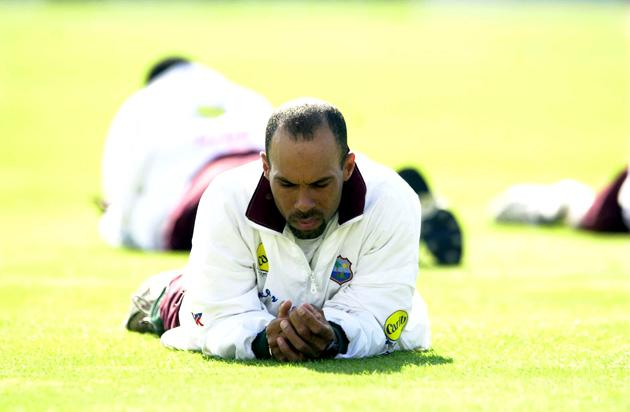 29 Aug 2000:  Jimmy Adams the captain of the West Indies looks in pensive mood during the nets session prior to the 5th against England test at The Oval, London. Mandatory Credit: Tom Shaw/ALLSPORT
