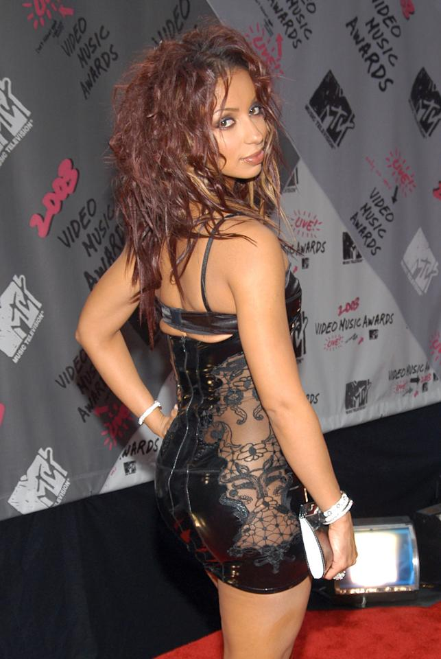 Mya during 2003 MTV Video Music Awards - Red Carpet at Radio City Music Hall in New York City, New York, United States. (Photo by KMazur/WireImage)