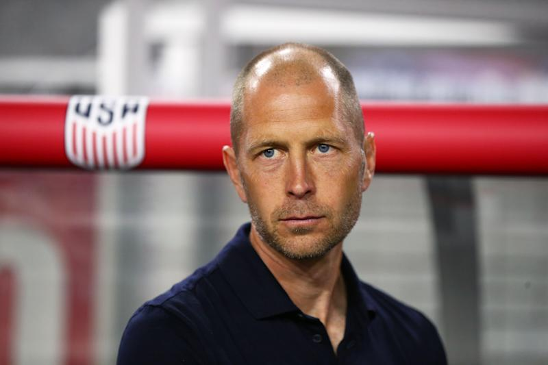 Jan 27, 2019; Glendale, AZ, USA; USA head coach Gregg Berhalter against Panama during an international friendly soccer match at State Farm Stadium. Mandatory Credit: Mark J. Rebilas-USA TODAY Sports