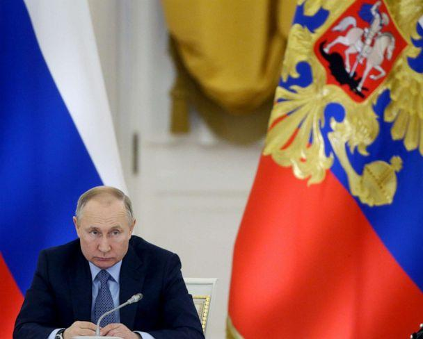 PHOTO: Russian President Vladimir Putin speaks during the State Council's meeting at Grand Kremlin Palace in Moscow, Dec. 26, 2019. (Mikhail Svetlov/Getty Images, FILE)