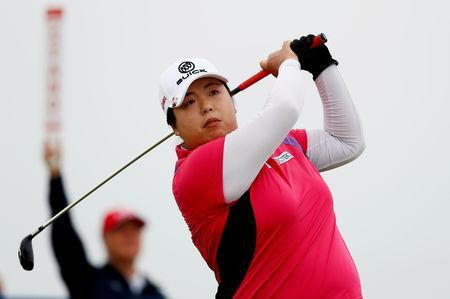 FILE PHOTO: Golf - Women's British Open - Royal Lytham & St Annes Golf Club, Lytham Saint Annes, Britain - August 2, 2018 China's Shanshan Feng in action during the first round Action Images via Reuters/Jason Cairnduff