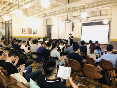 Insee Network founder and CEO Bright Yu at Shanghai Blockchain Project Introduction & Investor Happy hour