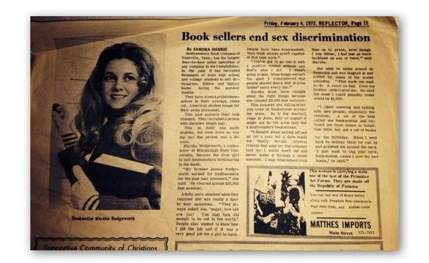 Newspaper clip from MSU student paper, Reflector, in 1972.