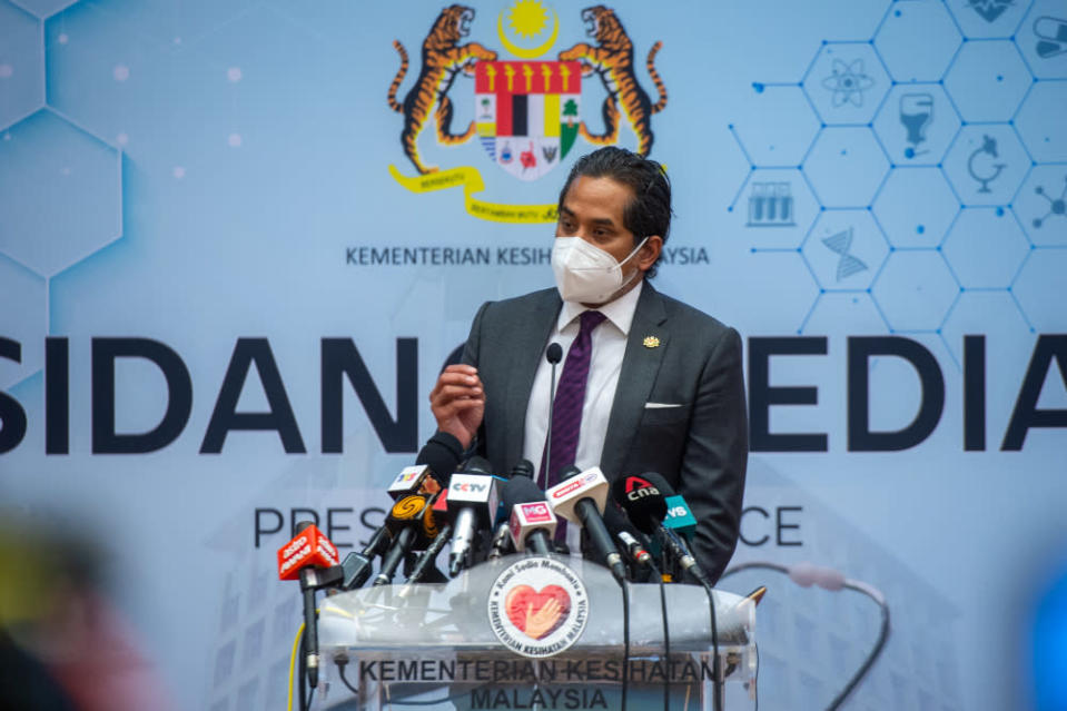 Health Minister Khairy Jamaluddin posted on his Twitter that the smart app will be regularly refreshed with more updates and improvements in the future. — Picture by Shafwan Zaidon
