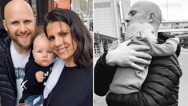 Gary Ablett and son Levi had an emotional reunion in Melbourne. Image: Instagram