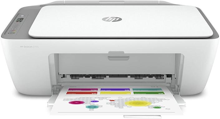 """<strong>Pages Per Minute: </strong>It doesn't specifically say but this printer can handle an input of 60 sheets and an output of 25 sheets.<br><strong>Monochrome Vs. Color: </strong>Get colorful &mdash; this printer can print in color, black and white. <br><strong>Cartridge Details: </strong>You'll need to get HP 67 Black/Tri-color ink cartridges for this printer. <br><strong> What Else Can This Printer Do: </strong>This printer can scan and copy, too. <br><strong> $$$: </strong><a href=""""https://amzn.to/3fwOyGS"""" rel=""""nofollow noopener"""" target=""""_blank"""" data-ylk=""""slk:Find it for $70 at Amazon"""" class=""""link rapid-noclick-resp"""">Find it for $70 at Amazon</a>. Keep in mind it's on backorder until Aug. 20."""