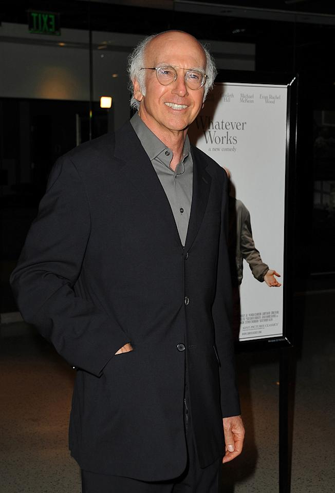 """<a href=""""http://movies.yahoo.com/movie/contributor/1800024715"""">Larry David</a> at the Los Angeles premiere of <a href=""""http://movies.yahoo.com/movie/1810007788/info"""">Whatever Works</a> - 06/08/2009"""