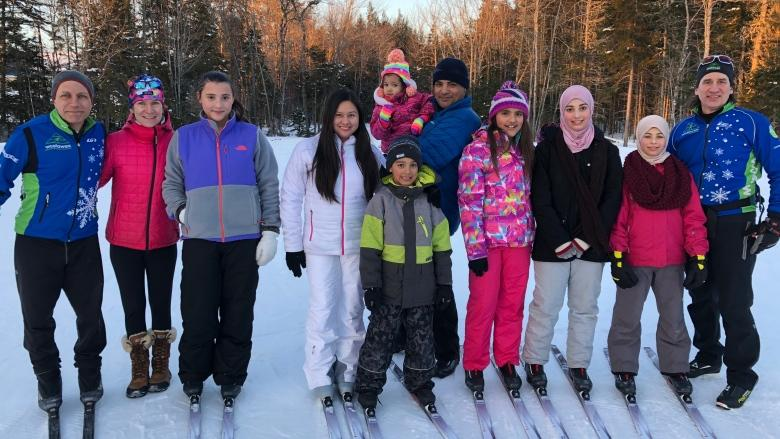 New Canadians learn to cross-country ski in Fredericton