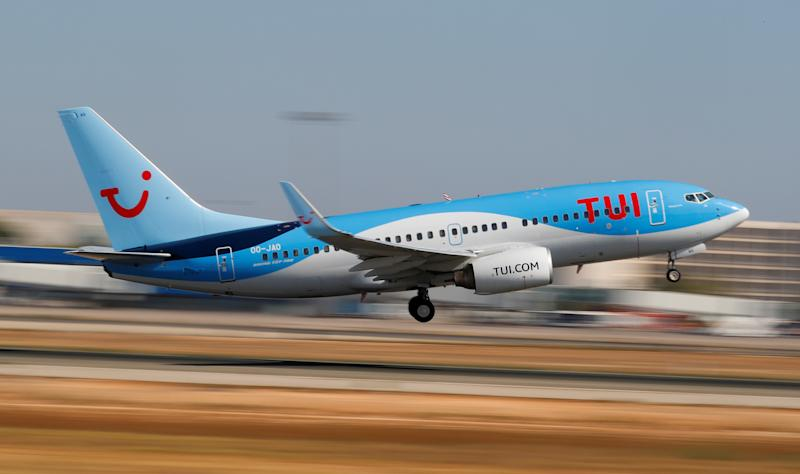 A TUI fly Belgium Boeing 737-700 airplane takes off from the airport in Palma de Mallorca, Spain, July 29, 2018. Picture taken July 29, 2018. REUTERS/Paul Hanna
