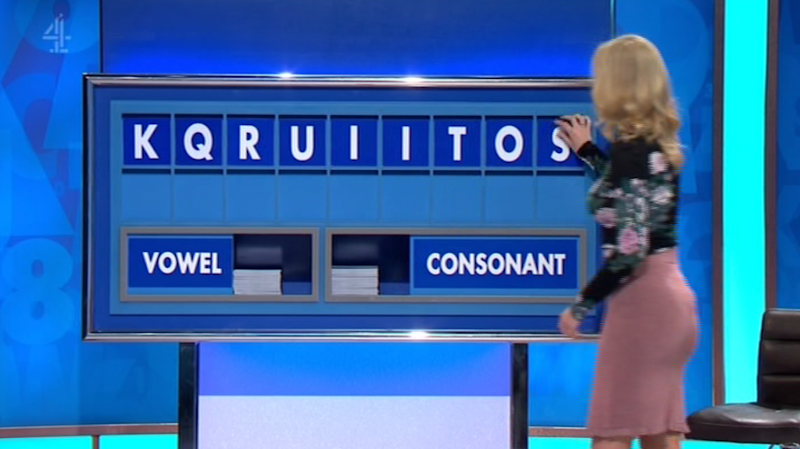 A TV host has caused a ruckus online after she spelt out a hilariously rude word live on TV. Photo: Channel 4/ Countdown