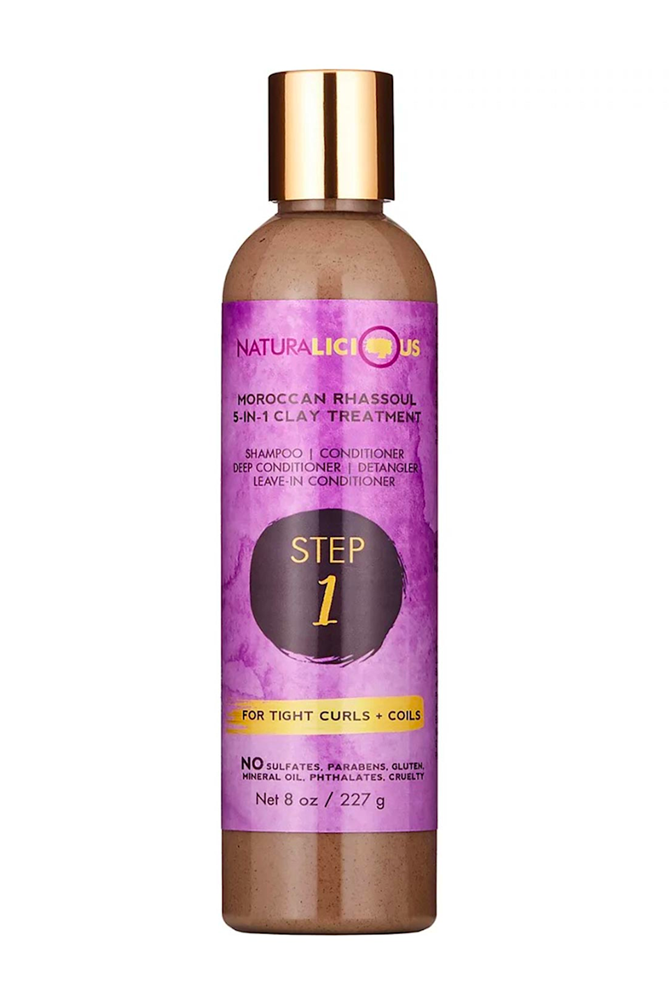 """<p><strong>Naturalicious</strong></p><p>ulta.com</p><p><strong>$23.00</strong></p><p><a href=""""https://go.redirectingat.com?id=74968X1596630&url=https%3A%2F%2Fwww.ulta.com%2Fmoroccan-rhassoul-5-in-1-clay-treatment%3FproductId%3Dpimprod2007742&sref=https%3A%2F%2Fwww.cosmopolitan.com%2Fstyle-beauty%2Fbeauty%2Fg36027428%2Fbest-detanglers-for-curly-hair%2F"""" rel=""""nofollow noopener"""" target=""""_blank"""" data-ylk=""""slk:Shop Now"""" class=""""link rapid-noclick-resp"""">Shop Now</a></p><p>K, prepare to be impressed: This formula does everything from cleansing and conditioning to detangling and styling (!). The formula's rhassoul clay works to gently clarify your scalp while <strong>avocado, olive, and <a href=""""https://www.cosmopolitan.com/style-beauty/beauty/a34996493/grapeseed-oil-for-skin/"""" rel=""""nofollow noopener"""" target=""""_blank"""" data-ylk=""""slk:grapseed oils"""" class=""""link rapid-noclick-resp"""">grapseed oils</a> deeply condition</strong>. Just work it through damp hair, massage it into your scalp, and gently detangle any knots before rinsing it allll the way out.</p>"""