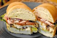 """<p><strong>Fried Walleye Sandwich</strong></p><p>Walleye is the official fish of Minnesota, so it's only right to fry it and put it into a sandwich. Try <a href=""""https://www.macsfishchipsstrips.com/"""" rel=""""nofollow noopener"""" target=""""_blank"""" data-ylk=""""slk:Mac's Fish and Chips"""" class=""""link rapid-noclick-resp"""">Mac's Fish and Chips</a> who serves the classic sandwich -- battered and fried with pickles, lemon and tartar sauce. </p>"""