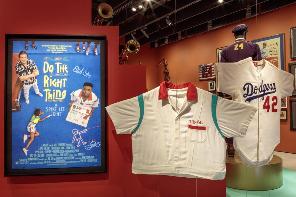 <p>The museum's opening exhibitions include elaborate displays dedicated to filmmakers like Spike Lee, whose <em>Do the Right Thing</em> has its own section. </p>