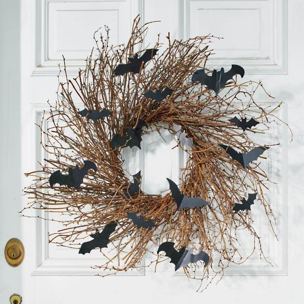 <p>The <span>Bats Grapevine Wreath</span> ($149) will last you all-year long.</p>