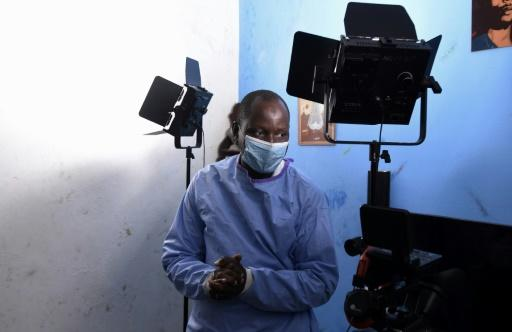 Alioune Thiam, who plays Dr. Diouf in a Senegalese TV show, 'The Virus'
