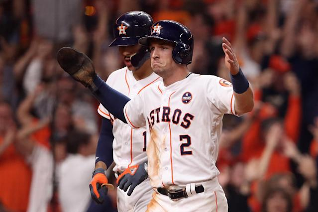 Alex Bregman came through in extras to give Houston the win in Game 5 of the World Series. (Getty Images)