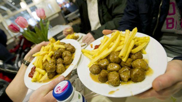 PHOTO: Meat balls are served in a restaurant of Ikea in Amsterdam, March 23, 2013. (Marcel Antonisse/AFP via Getty Images, FILE)