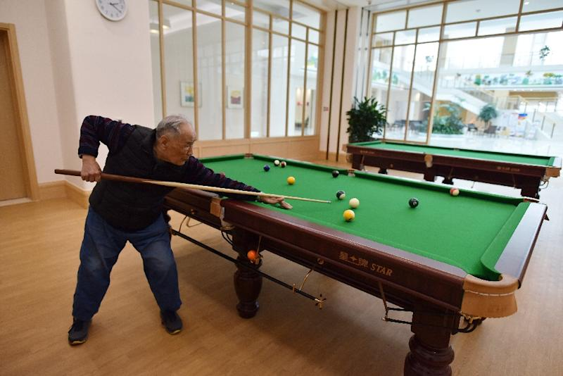 To tackle the country's looming ageing crisis, the Chinese government is trialing a number of policies, including preferential tax policies for elderly care service providers (AFP Photo/GREG BAKER)