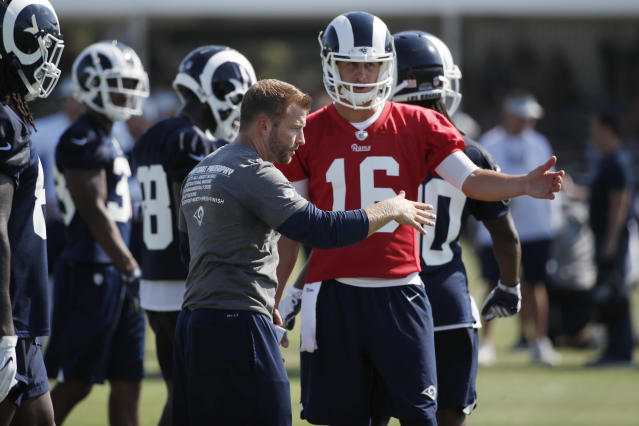 Jared Goff has taken a massive step forward under Sean McVay. (AP Photo/Jae C. Hong, Fle)