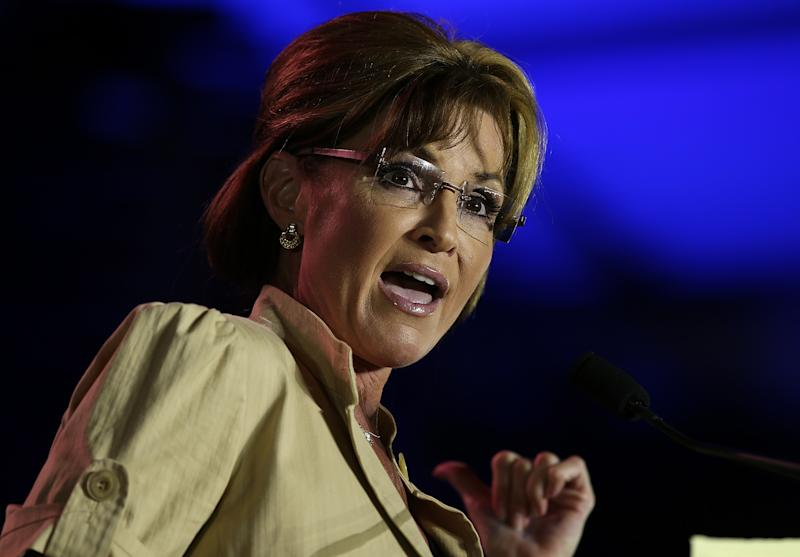 Former Alaska Gov. Sarah Palin speaks during the 2014 Republican Leadership Conference on May 29, 2014 in New Orleans, Louisiana (AFP Photo/Justin Sullivan)