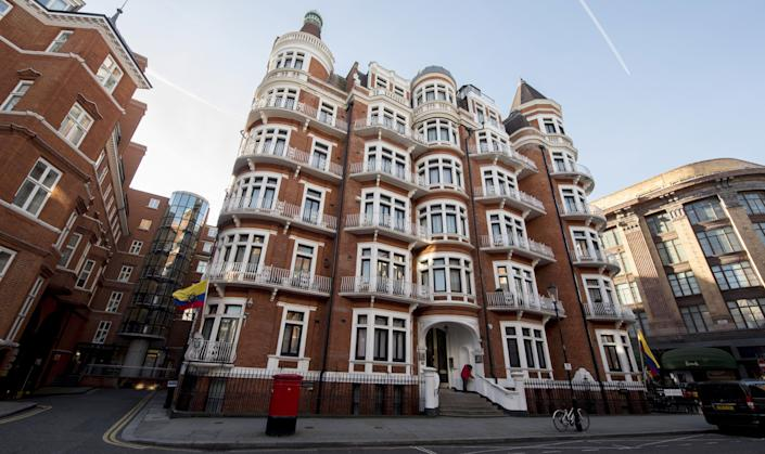 A general view of the Ecuadorian embassy in London where Wikileaks founder Julian Assange is residing, London on January 18, 2017. (Will Oliver/EPA/Shutterstock)