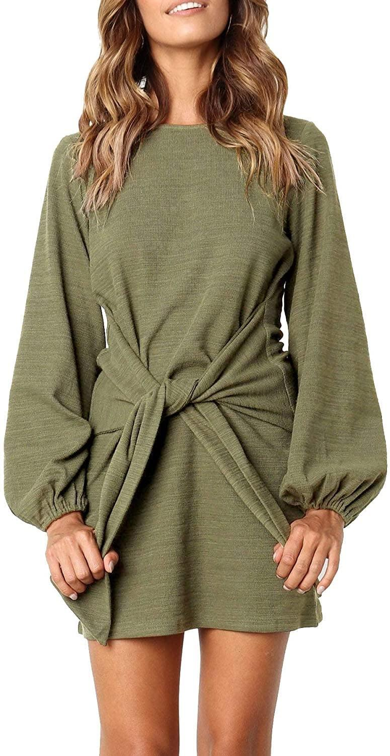 <p>Our editors have tested this <span>R.Vivimos Cotton Long-Sleeved Tie-Waist Sweater Dress</span> ($29) and can confirm it's incredibly flattering.</p>