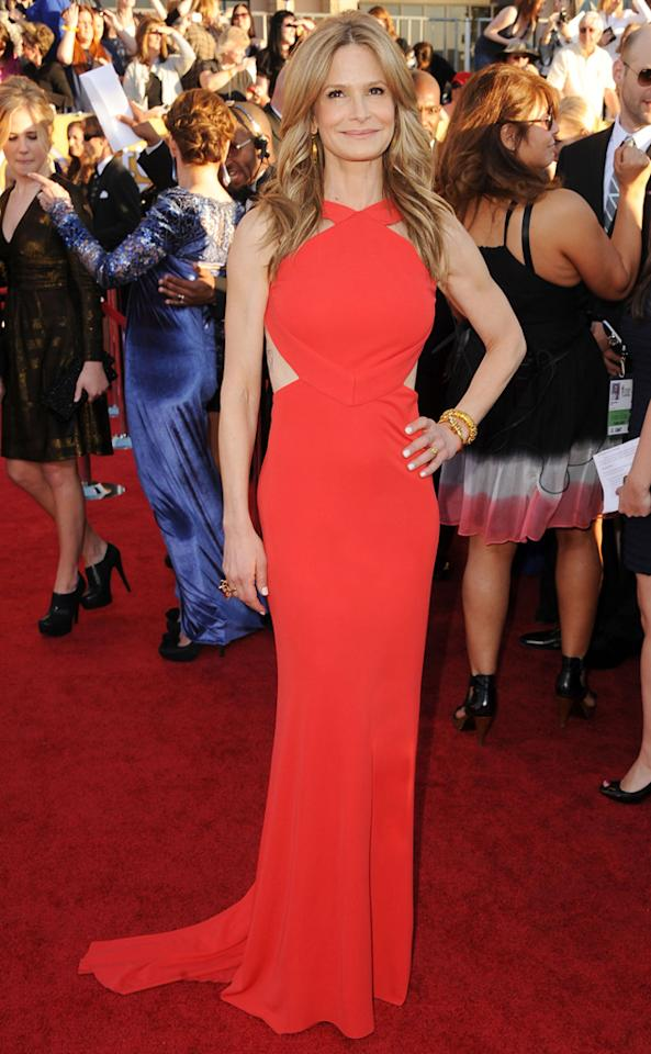 Kyra Sedgwick (in Pucci) arrives at the 18th Annual Screen Actors Guild Awards at The Shrine Auditorium in Los Angeles, California.