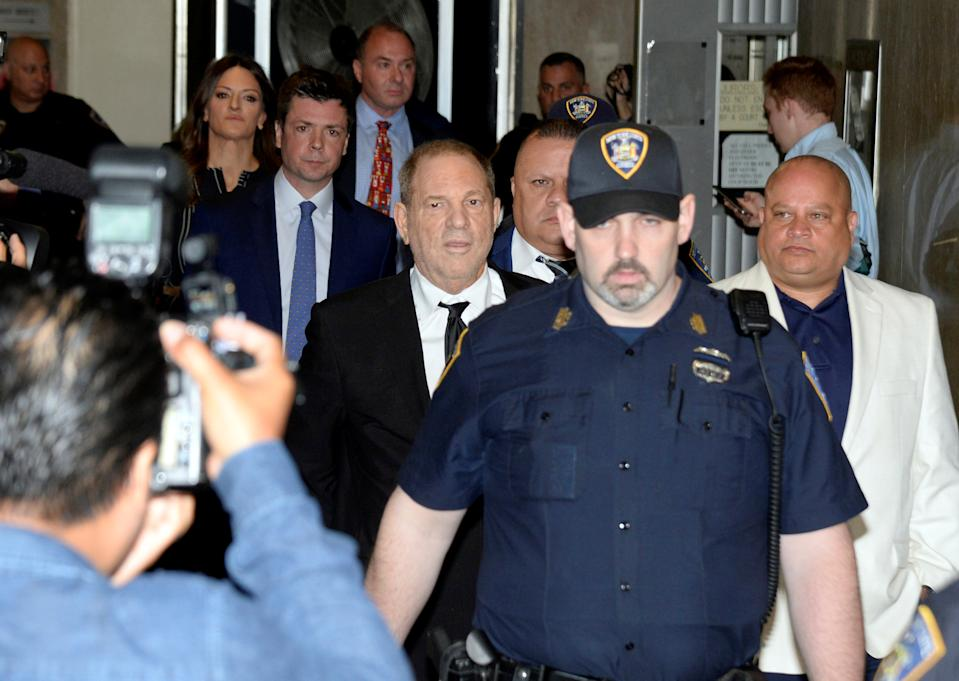 Film producer Harvey Weinstein leaves after a hearing in New York State Supreme Court in the Manhattan borough of New York, August 26, 2019. REUTERS/Jefferson Siegel
