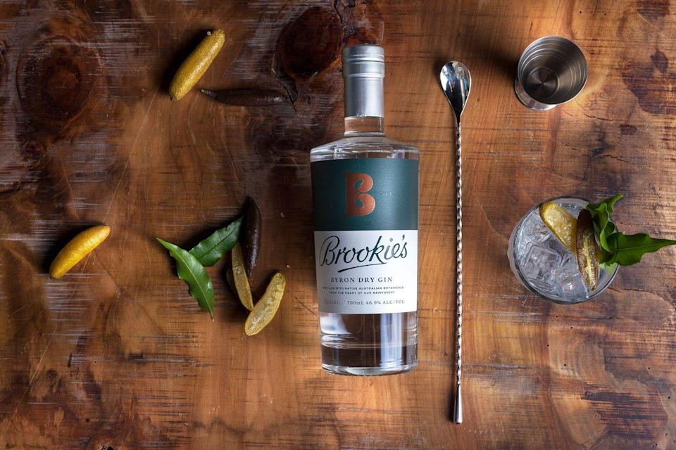 """<p>This <a href=""""https://capebyrondistillery.com/"""" rel=""""nofollow noopener"""" target=""""_blank"""" data-ylk=""""slk:Cape Byron Distillery"""" class=""""link rapid-noclick-resp"""">Cape Byron Distillery</a> is located in the hinterland of Byron Bay. The gin is distilled with the finest regional botanicals such as Byron sunrise finger limes, aniseed myrtle and native raspberry. Of the 25 botanicals, 17 are native to the surrounding re-generated rainforest. As the legendary master distiller and co-founder of the brand Jim McEwan explains: """"This is without doubt the most natural gin in the world. Let yourself be transported to that amazing place, enjoy the enlightenment."""" </p><p>Pair with <a href=""""https://www.butlerandbrewer.co.uk/product/rosemary-mint-lemon/"""" rel=""""nofollow noopener"""" target=""""_blank"""" data-ylk=""""slk:Lixir Elderflower and Lemon tonic"""" class=""""link rapid-noclick-resp"""">Lixir Elderflower and Lemon tonic</a> for a light and refreshing flavour. Add in a few drops of Butler and Brewer's rosemary, mint and lemon tonic enhancer and the flavour really pops.</p>"""