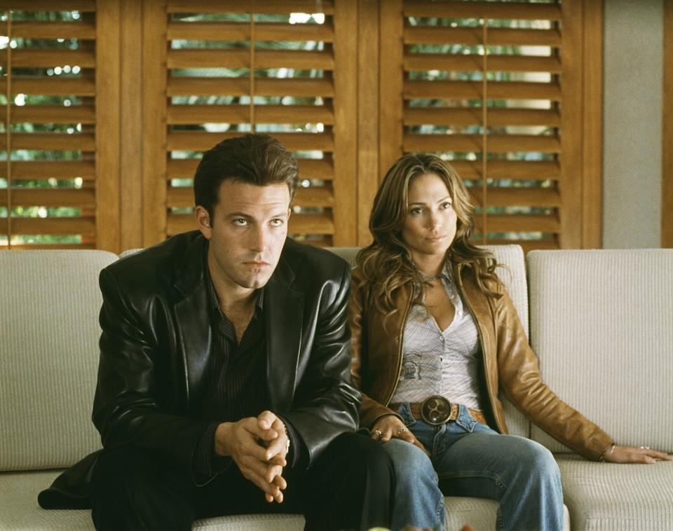 What's funny is that we spent the entire length of 'Gigli' pulling the exact same face as Ben Affleck in this film still.