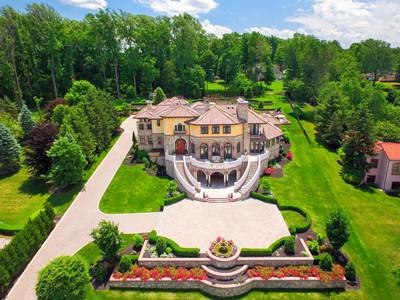 Platinum Luxury Auctions will offer this Tuscan-inspired estate in Warren, New Jersey at luxury auction® on Saturday, Dec 14th. Previously asking $7.9 million, the property will now be sold to the highest bidder without reserve and regardless of price. The estate was custom built at a cost in excess of $12 million, and was designed to evoke the romance and beauty of the Italian countryside. More at NewJerseyLuxuryAuction.com.