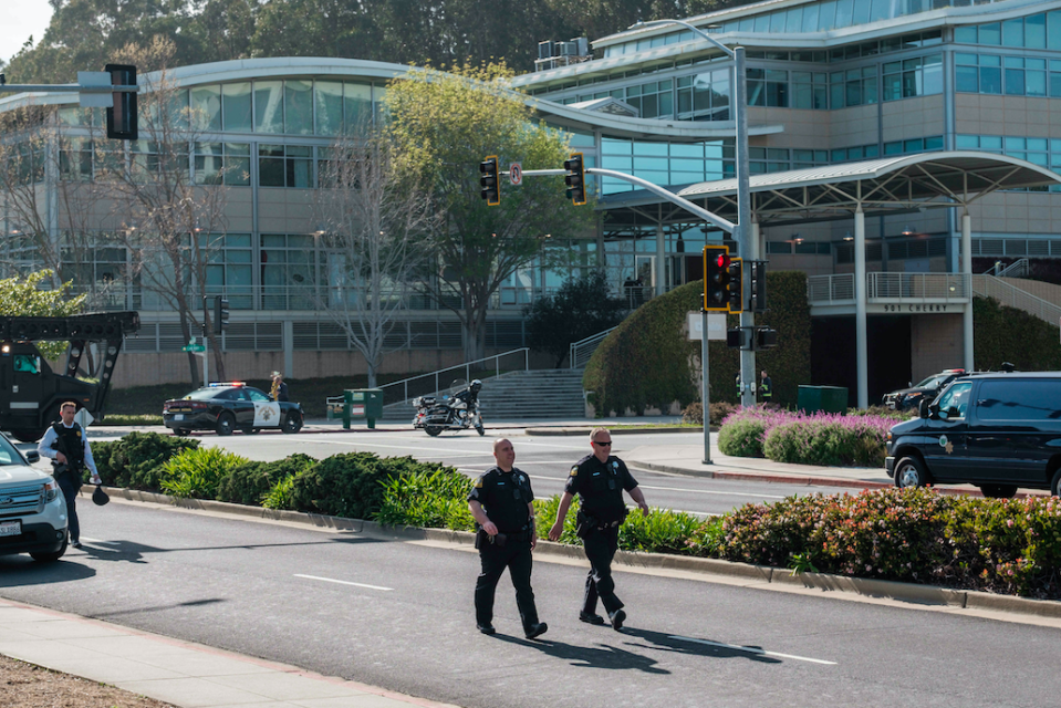 <em>Three people were injured in the shooting at YouTube headquarters (Rex)</em>