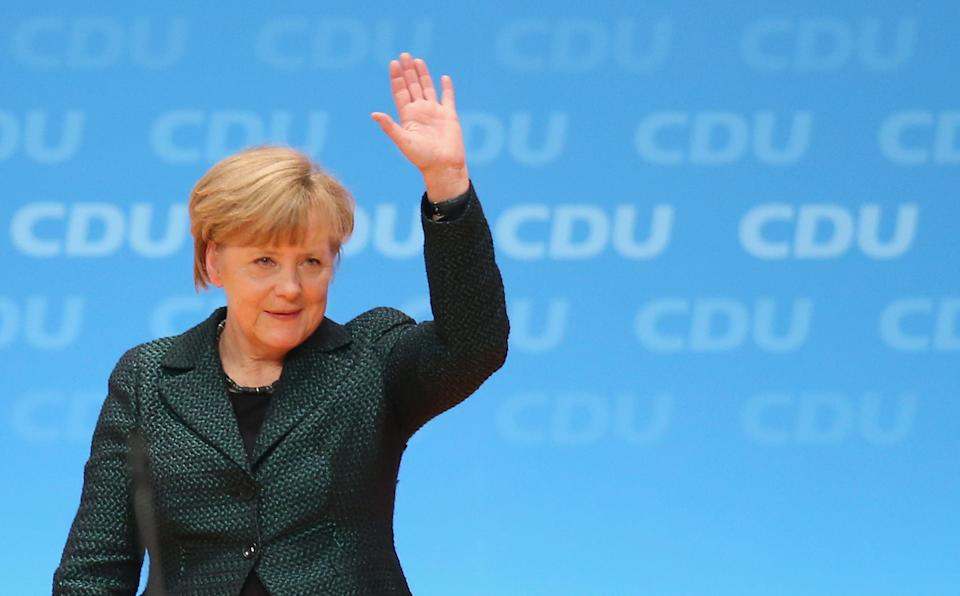 German chancellor Angela Merkel is also chairwoman of the German Christian Democrats.