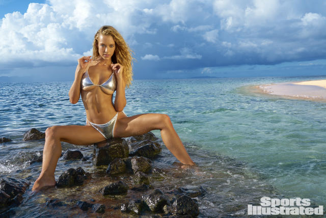 <p>Hannah Ferguson was photographed by Yu Tsai in Fiji. Swimsuit by Daniela Corte.</p>
