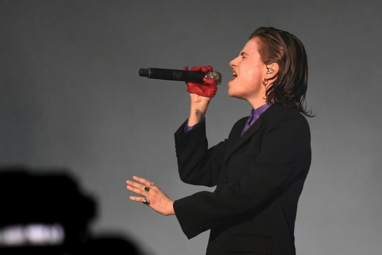French singer Heloise Letissier, aka Chris or Christine and the Queens performed in Paris for the 'Global Citizen Live' concert (AFP/Bertrand GUAY)
