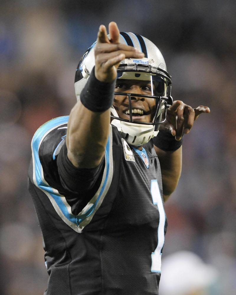Panthers QB Newton making plays in the clutch
