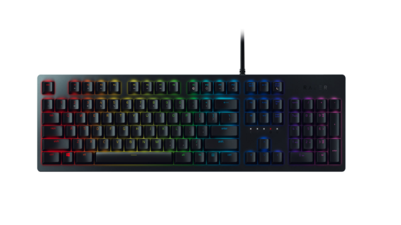 Razer Huntsman Backlit Mechanical Gaming Keyboard. Image via Best Buy.