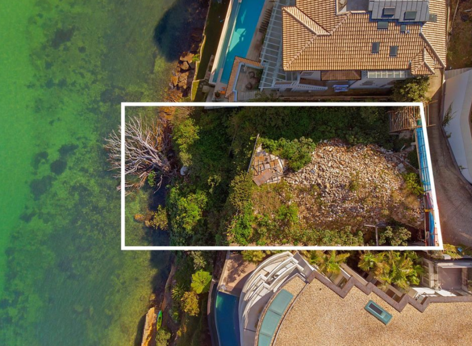 This block of land in Point Piper is rumoured to be worth $25 million. Source: LJ Hooker Double Bay