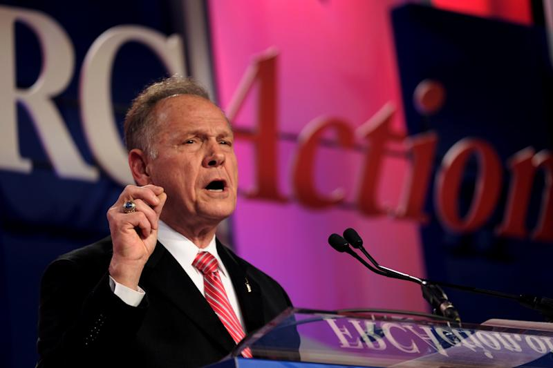 Former Alabama Supreme Court Chief Justice Roy Moore speaks at the Values Voter Summit of the Family Research Council in Washington, D.C., onOct. 13, 2017.