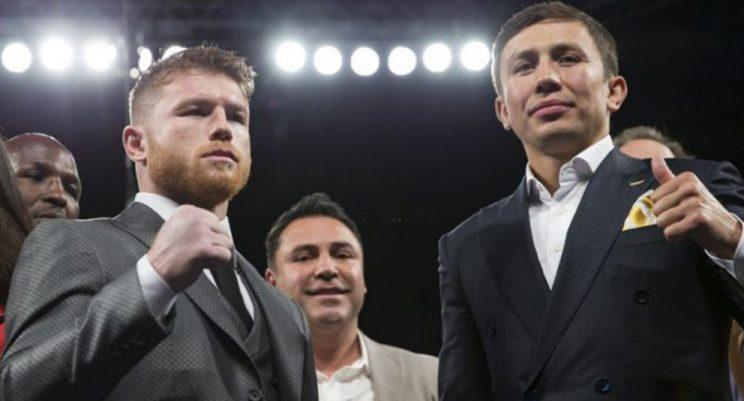 Canelo Alvarez (L) and Gennady Golovkin probably would've already fought by now if not for Oscar De La Hoya. (Getty)