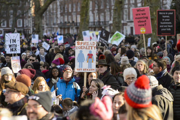 Thousands in UK March Ahead of Int'l Women's Day