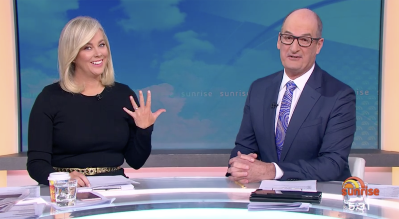 Samantha Armytage on Sunrise after engagement