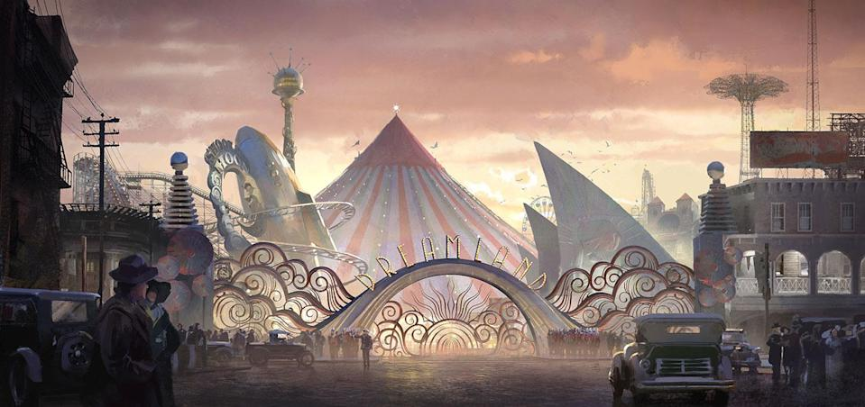 <p>Dumbo and the Medici circus is acquired by Vandevere to become the central attraction of Dreamland. (Disney) </p>