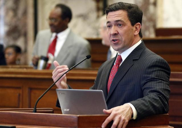 State Sen. Chris McDaniel, R-Ellisville, speaks at the Capitol in Jackson, Miss. in 2017. (Photo: Rogelio V. Solis/AP)