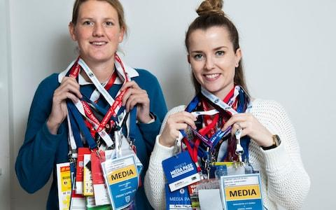 Sophie Downey (left) and Rachel O'Sullivan will clock up England match No 101 against Germany - Credit: Julian Simmonds