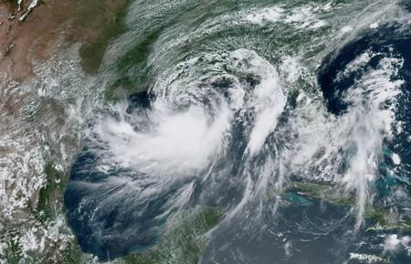 Tropical Storm Barry approaches the coast of Louisiana, U.S. from the Gulf of Mexico